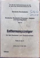 Deutsche Bundesbahn, Entfernungsanzeiger 1992
