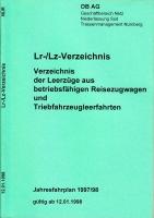 Lr-/Lz-Verzeichnis, DB AG, Niederlassung Süd, Nürnberg, 1998