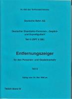 Deutsche Bahn AG, Entfernungsanzeiger, 1998