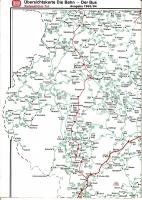 2 Karten Übersichtskarte Die Bahn - Der Bus, Sommer 1990 und Ausgabe 1993/94 südwestl. Teil
