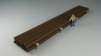 DUHA 11564 M - Rostige Schienen, passend für Märklin-Wagen