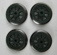 Fleischmann Original-Ersatzteil - 4 Räder für Dampflok Ø 10 mm (64)