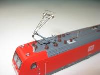 Einholm-Stromabnehmer mit kurzem Schleifer für Lok 7385