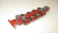 Lokfahrgestell mit Rädern und Kuppelstange für BR55