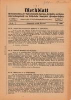 Merkblatt für Unterweisung der Bediensteten, Magdeburg, 15. Dezember 1926