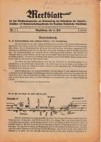 Merkblatt für das Dienstvortragswesen zur Unterweisung der Bediensteten, Magdeburg, 15. Juli 1930