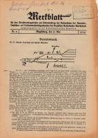 Merkblatt für das Dienstvortragswesen zur Unterweisung der Bediensteten, Magdeburg, 15. Mai 1930