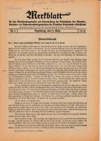Merkblatt für das Dienstvortragswesen zur Unterweisung der Bediensteten, Magdeburg, 15. März 1930