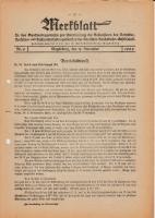 Merkblatt für das Dienstvortragswesen zur Unterweisung der Bediensteten, Magdeburg, 15. November 1929