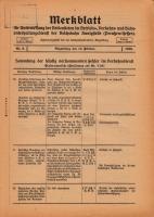 Merkblatt für Unterweisung der Bediensteten, Magdeburg, 15. Februar 1928