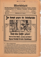 Merkblatt für Unterweisung der Bediensteten, Magdeburg, 15. Januar 1928