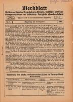 Merkblatt für Unterweisung der Bediensteten, Magdeburg, 15. Dezember, 1927