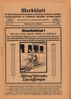 Merkblatt für Unterweisung der Bediensteten, Magdeburg, 15. August 1927