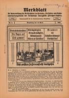 Merkblatt für Unterweisung der Bediensteten, Magdeburg, 15. April 1927