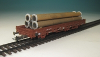 DUHA 11326 E - 5 rostige Rohre mit Flansch