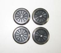 Fleischmann Ersatzteil - 4 Räder für Dampflok Ø 17,5 mm, schwarz, isoliert (35)