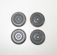 Fleischmann Ersatzteil - 3 Räder grau, isoliert o. Nut, 1 Rad mit Nut (36)