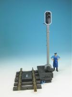 LGB RhB-Lichtsignal 5095 gebraucht, aus Vorführanlage, Kabel blau/blau