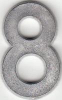 Ziffer, aus Zinnguss - 41 mm hoch - Rohguss