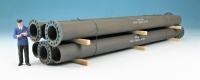 DUHA 15326 L - Gealterte Rohre mit Flansch, 312 mm lang (Spur I)