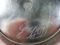 Antiker tiefer Zinnteller mit Punze und Gravur (AN 49)